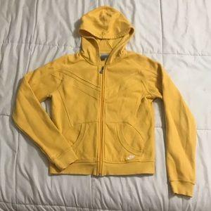 Nike Golden Yellow Full Zip Athletic Hoodie